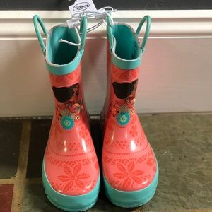 Disney Moana Rainboots Brand New